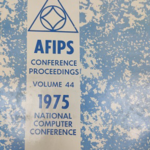 AFIPS Conference Proceedings Volume 44: 1975 National Computer Conference